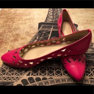 NEW Calvin Klein Emilia Flats Patent Leather PINK